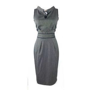 Zara dress sheath medium sleeveless pin up evening